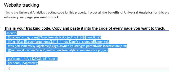 google-tracking-code